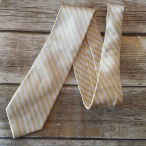 Izod Canary yellow stripe silk tie